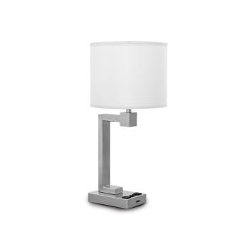 Truly Yours Collection - Double Table Lamp with Brushed Nickel Finish