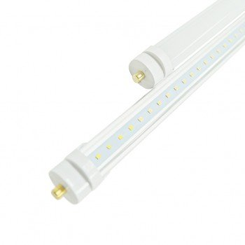 8FT LED T8 Tube With FA8 Base - Ballast Bypass - Type B Installation - PC Frosted Lens, ETL