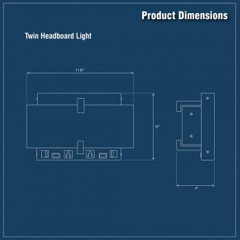 Modern LED Headboard Light