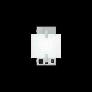 LED Cube Wall Light - Single Headboard with Brushed Nickel Finish