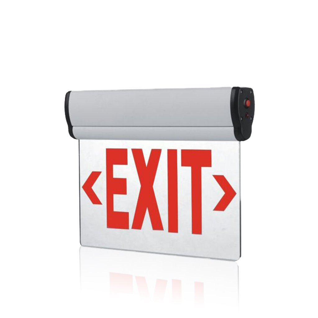 Edge Lit Exit Sign Light Single Face